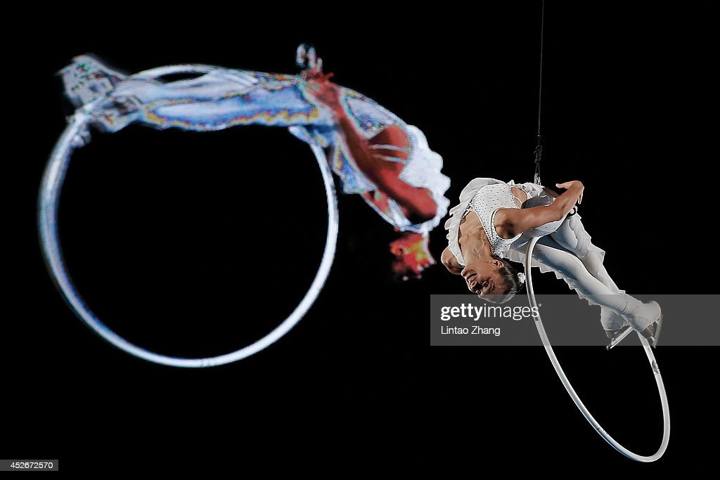 Marie Pierre Leray of France performs during the 2014 Artistry On Ice Beijing at Beijing MasterCard Center on July 25, 2014 in Beijing, China.