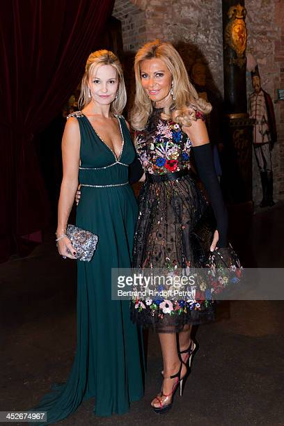 Marie Saldmann and Nicole Weinberg attend the Mimi Foundation gala dinner at Musee des Arts Forains on November 30 2013 in Paris France