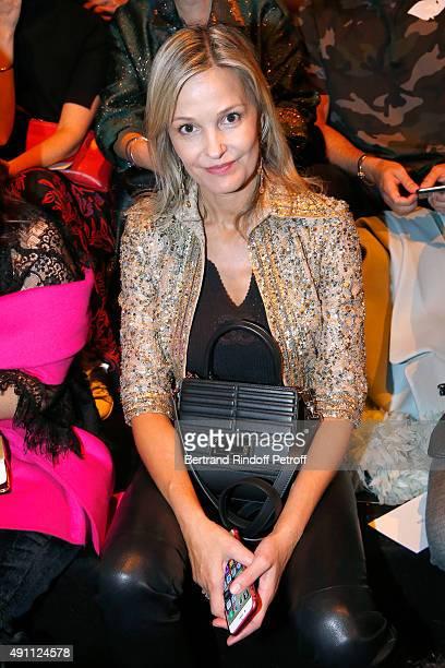Marie Saldmann attends the Elie Saab show as part of the Paris Fashion Week Womenswear Spring/Summer 2016 on October 3 2015 in Paris France