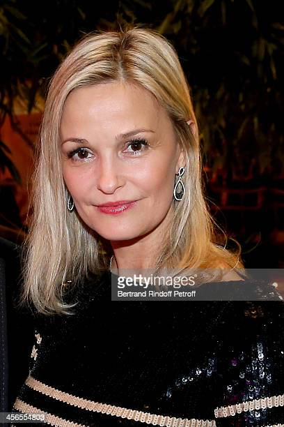 Marie Saldmann the wife of cardiologist/nutritionist Dr Frederic Saldmann attends the 1st wedding anniversary of actress Cyrielle Clair and...