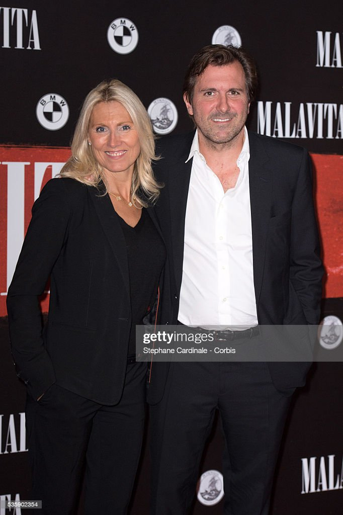Marie Sara and Christophe Lambert attend the 'Malavita' premiere at Europacorp Cinemas at Aeroville Shopping Center, in Roissy-en-France, France.
