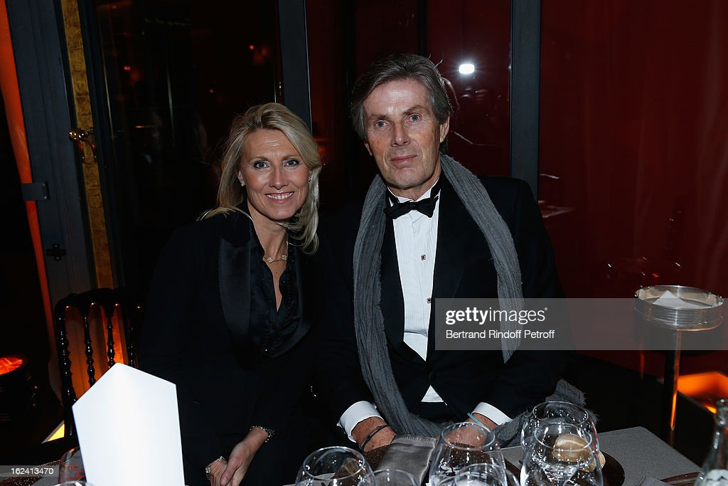 Marie Sara and Dominique Desseigne attend the Cesar Film Awards 2013 at Le Fouquet's on February 22, 2013 in Paris, France.