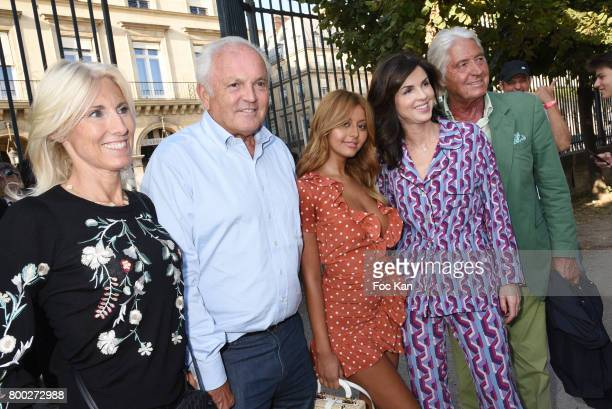Marie Sara Bourseiller Christian Bimes Zahia Dehar Caroline Barclay and Pierre Cornette de Saint Cyr attend La Fete des Tuileries on June 23 2017 in...
