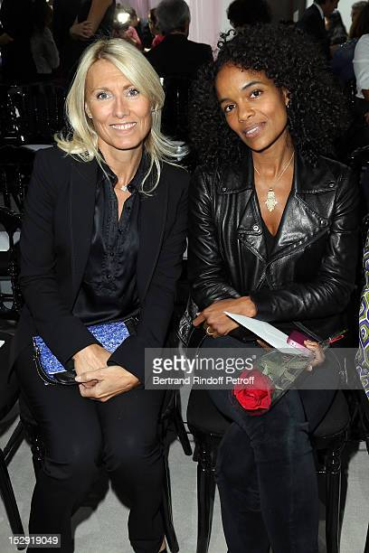 Marie Sara Lambert and Virginie BessonSilla attend the Christian Dior Spring / Summer 2013 show as part of Paris Fashion Week on September 28 2012 in...
