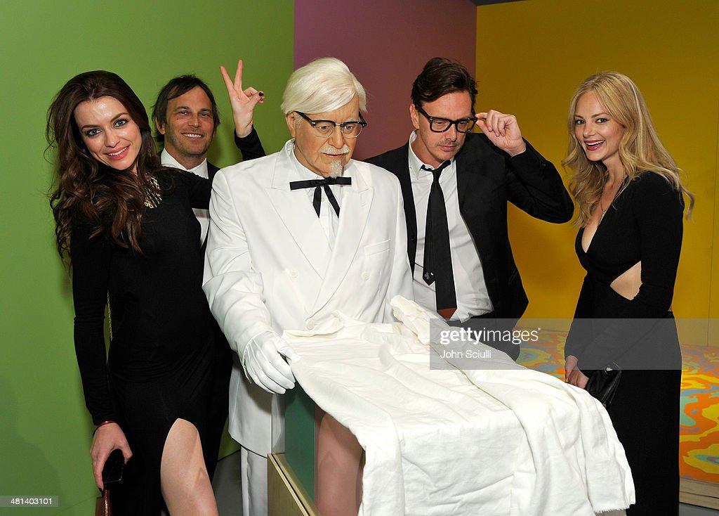 Marie Sheehy, Nathan Ross, actor Donovan Leitch, and Libby Mintz attend MOCA's 35th Anniversary Gala presented by Louis Vuitton at The Geffen Contemporary at MOCA on March 29, 2014 in Los Angeles, California.