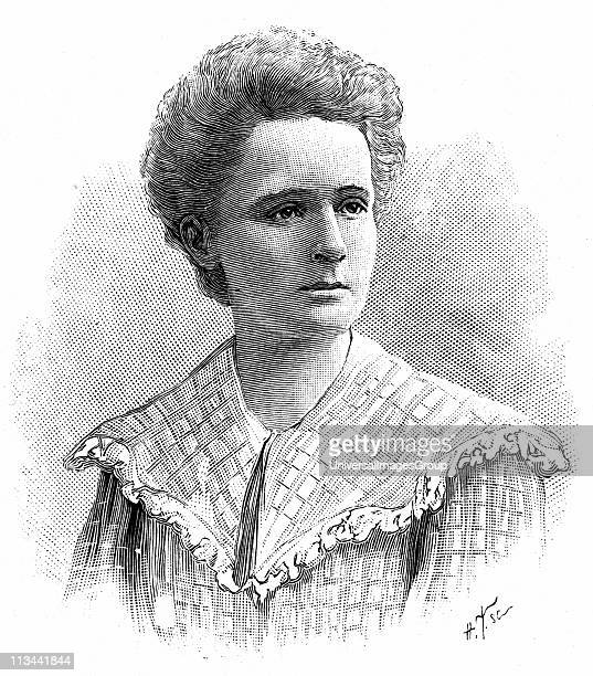 Marie Sklodowska Curie Polishborn French physicist Engraving published 1904