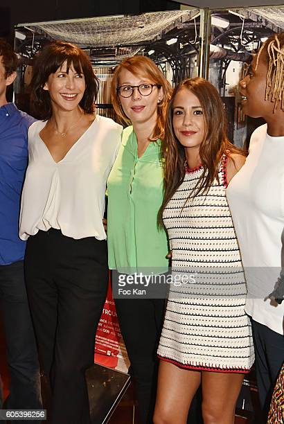 Marie Sohna Conde Alice Belaidi Audrey Estourgo Sophie Marceau and Benjamin Siksou attend 'La Taularde' Paris Premiere At UGC Cine Cite Les Halles on...