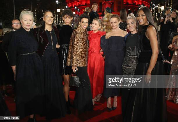 Marie Sophie Wilson Veronica Webb Dilone Farida Khelfa Annabelle Wallis Stella McCartney Pink and Naomi Campbell at The Fashion Awards 2017 in...
