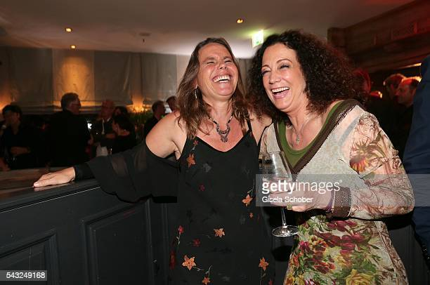 Marie Theres KroetzRelin and Barbara Wussow during the Peugeot BVC Casting Night during the Munich Film Festival 2016 at Kaeferschaenke on June 26...