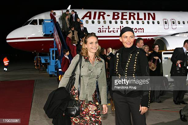 Marie Theres KroetzRelin Und Natascha Ochsenknecht at The 'Fly Into The Sunshine' Air Berlin media meeting in Hangar 2 In the Event Center Tempelhof...