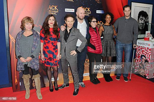 Marie Vincent Olivia Ruiz Mathias Malzieu Stephane Berla Dani Virginie Besson and Fabien Marsaud aka Grand Corps Malade attend the 'Jack Et La...
