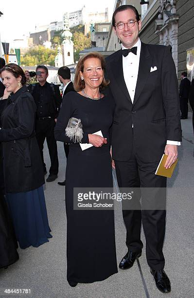 Marie Waldburg and her son Max Waldburg attend the opening of the easter festival 2014 on April 12 2014 in Salzburg Austria