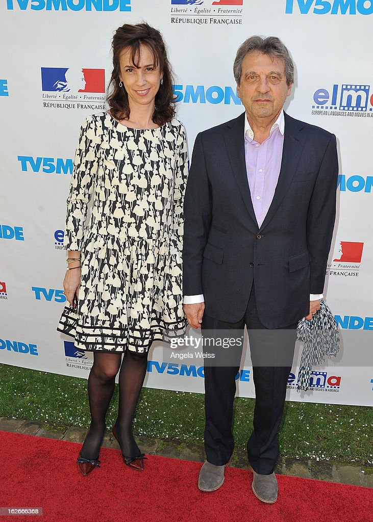 Marie Zamora and Alain Boublil attend an event hosted by the Consul General Of France, Mr. Axel Cruau, honoring the French nominees for the 85th Annual Academy Awards at French Consulate's Home on February 25, 2013 in Beverly Hills, California.