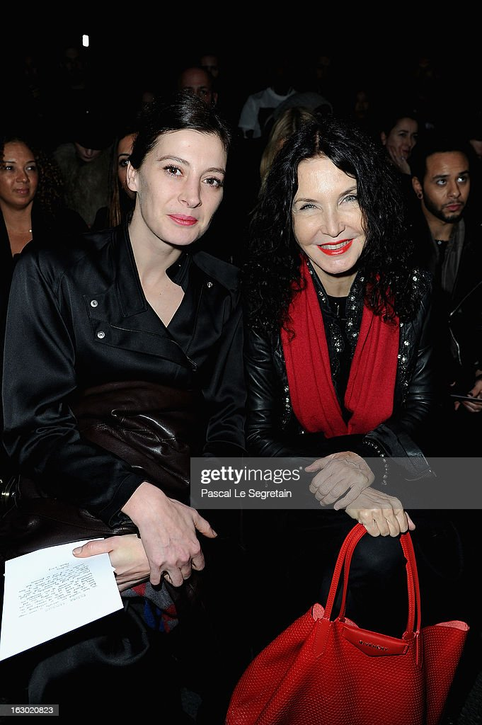 Marie-Agnes Gillot and Marielle Labeque attend the Givenchy Fall/Winter 2013 Ready-to-Wear show as part of Paris Fashion Week on March 3, 2013 in Paris, France.