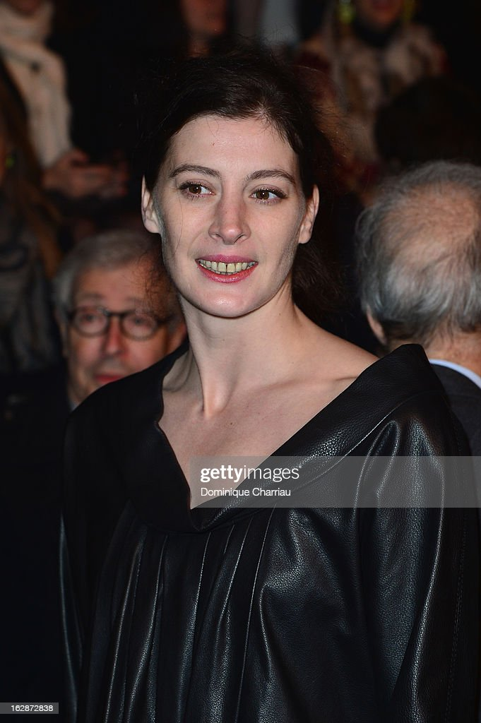 Marie-Agnes Gillot attends the Nina Ricci Fall/Winter 2013 Ready-to-Wear show as part of Paris Fashion Week on February 28, 2013 in Paris, France.