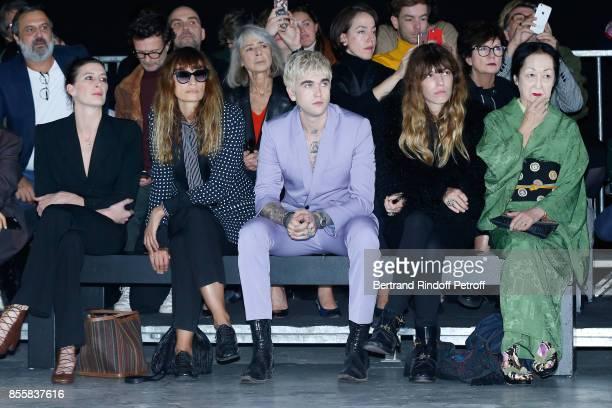 MarieAgnes Gillot Caroline de Maigret GabrielKane DayLewis Lou Doillon and Countess Setsuko Klossowska de Rola attend the Haider Ackermann show as...