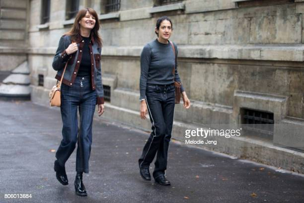 MarieAmelie Sauve after the Proenza Schouler show on July 2 2017 in Paris France