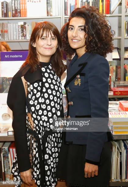 MarieAmelie Sauve and Brune Buonomano attend the launch and book signing of Mastermind Magazine as part of Paris Fashion Week Womenswear Fall/Winter...