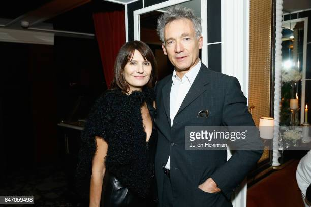 MarieAmelie Sauve and Geoffroy De La Bourdonnaye attend the Mastermind Magazine launch dinner as part of Paris Fashion Week Womenswear Fall/Winter...