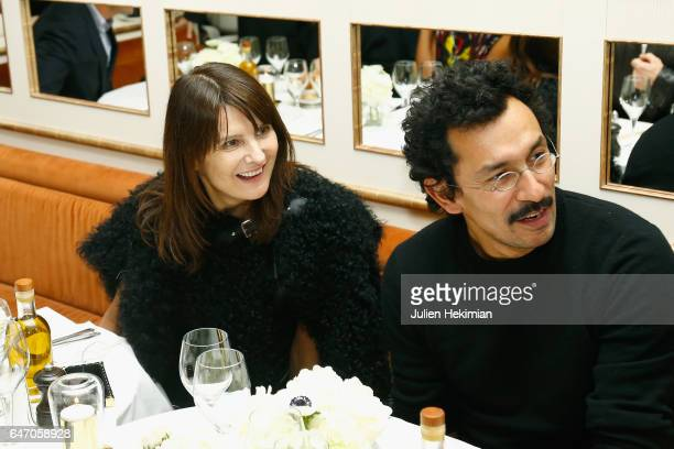 MarieAmelie Sauve and Haider Ackermann attend the Mastermind Magazine launch dinner as part of Paris Fashion Week Womenswear Fall/Winter 2017/2018 at...
