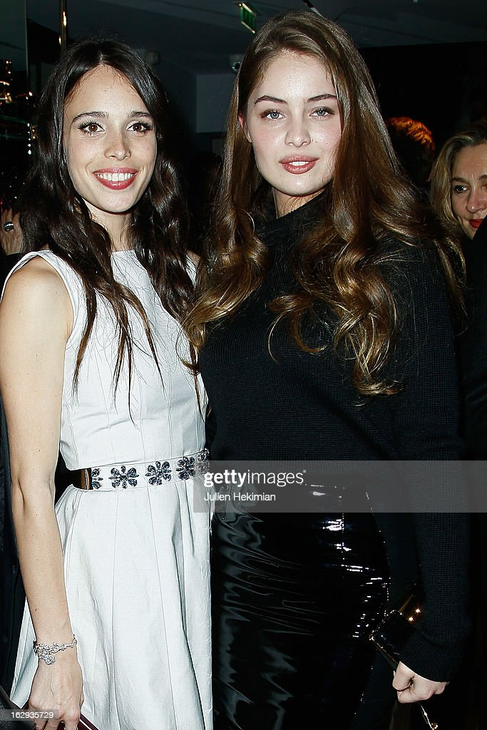 Marie-Ange Casta (R) and Chelsea Tyler attend the Tom Ford Flagship Opening Cocktail as part of Paris Fashion Week at on March 1, 2013 in Paris, France.