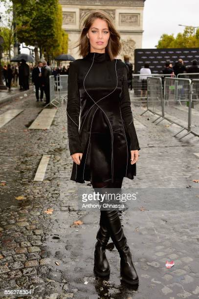 MarieAnge Casta arrives at Le Defile L'Oreal Paris as part of Paris Fashion Week Womenswear Spring/Summer 2018 at Avenue Des Champs Elysees on...