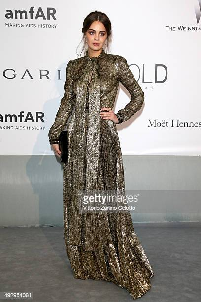MarieAnge Casta attends amfAR's 21st Cinema Against AIDS Gala Presented By WORLDVIEW BOLD FILMS And BVLGARI at Hotel du CapEdenRoc on May 22 2014 in...