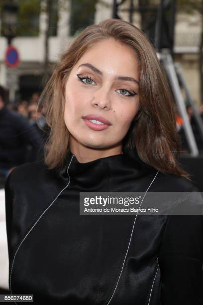 MarieAnge Casta attends Le Defile L'Oreal Paris show as part of the Paris Fashion Week Womenswear Spring/Summer 2018 on October 1 2017 in Paris France
