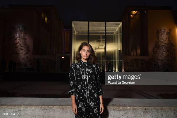 MarieAnge Casta attends OSNI 1 Opening Cocktail Hosted By Cartier at Palais De Tokyo on October 19 2017 in Paris France