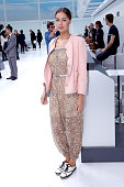 MarieAnge Casta attends the Chanel show as part of the Paris Fashion Week Womenswear Spring/Summer 2016 Held at Grand Palais on October 6 2015 in...