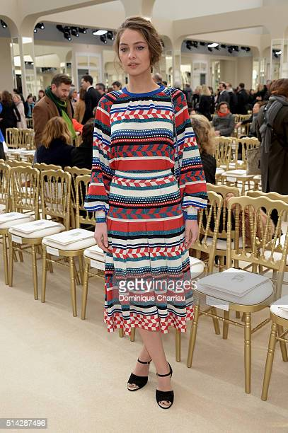 MarieAnge Casta attends the Chanel show as part of the Paris Fashion Week Womenswear Fall/Winter 2016/2017 on March 8 2016 in Paris France
