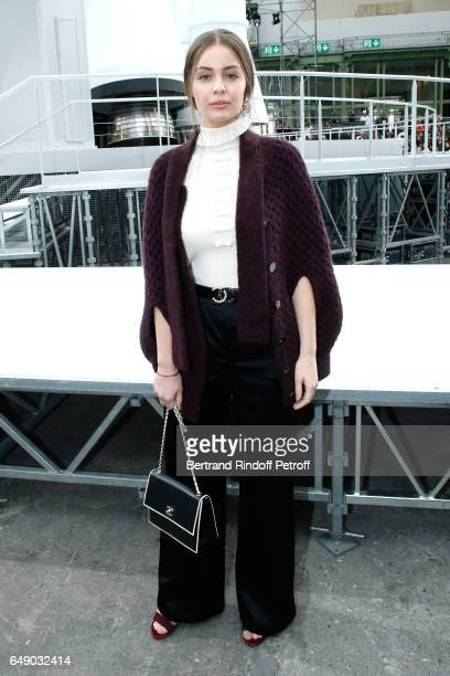 MarieAnge Casta attends the Chanel show as part of the Paris Fashion Week Womenswear Fall/Winter 2017/2018 on March 7 2017 in Paris France
