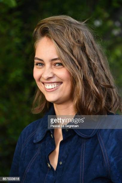 MarieAnge Casta attends the Chanel show as part of the Paris Fashion Week Womenswear Spring/Summer 2018 on October 3 2017 in Paris France