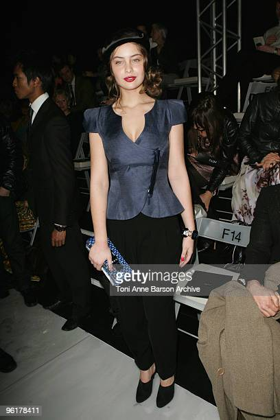 MarieAnge Casta attends the Giorgio Armani Prive HauteCouture show as part of the Paris Fashion Week Spring/Summer 2010 at Palais de Chaillot on...
