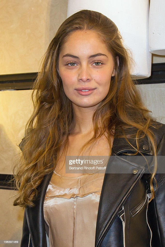 Marie-Ange Casta attends the Maison Martin Margiela for H&M collection launch at H&M Champs Elysees on November 14, 2012 in Paris, France.