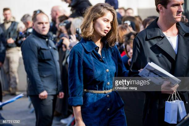 MarieAnge Casta seen outside Chanel during Paris Fashion Week Spring/Summer 2018 on October 3 2017 in Paris France