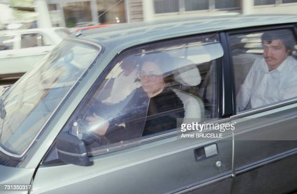 MarieAnge Laroche arrives to meet her lawyer Maitre Welzer in Epinal Vosges France 24th April 1985 Laroche is the widow of Bernard Laroche who was...