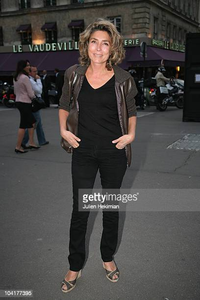 MarieAnge Nardi attends the TF1 cocktail party at Palais Brongniart on September 13 2010 in Paris France