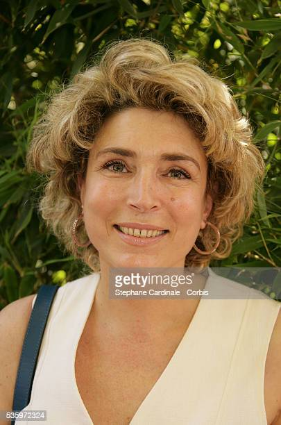 MarieAnge Nardi visits Roland Garros village during the 2005 French Open tennis
