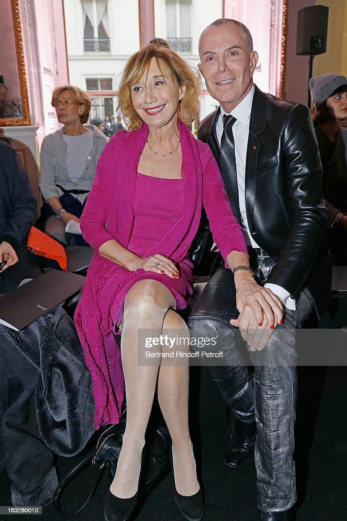 Marie-Anne Chazel (L) and Jean-Claude Jitrois attend the Jitrois Fall/Winter 2013 Ready-to-Wear show as part of Paris Fashion Week on March 6, 2013 in Paris, France.