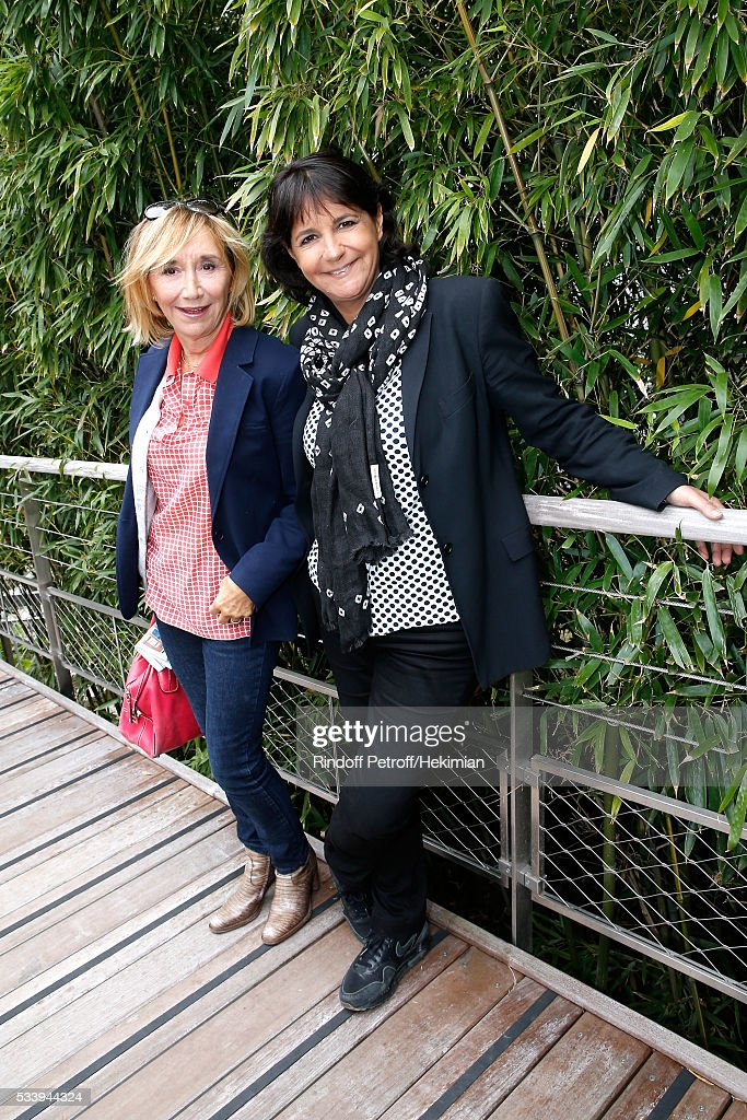 Marie-Anne Chazel and Valerie Expert attend the 2016 French Tennis Open - Day Three at Roland Garros on May 24, 2016 in Paris, France.