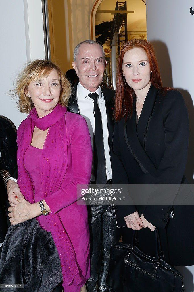 Marie-Anne Chazel, Jean-Claude Jitrois and Audrey Fleurot attend the Jitrois Fall/Winter 2013 Ready-to-Wear show as part of Paris Fashion Week on March 6, 2013 in Paris, France.