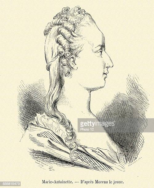 MarieAntoinette 19th Century engraving