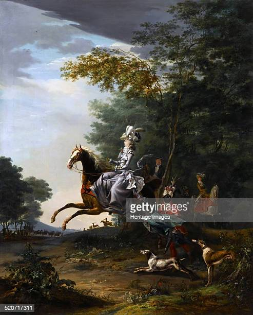 MarieAntoinette Hunting with Dogs Found in the collection of Musée de l'Histoire de France Château de Versailles