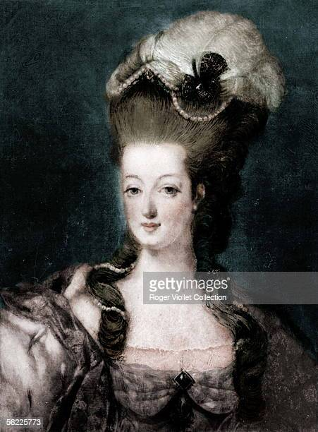 MarieAntoinette of Austria queen of France BNF Colourized photo