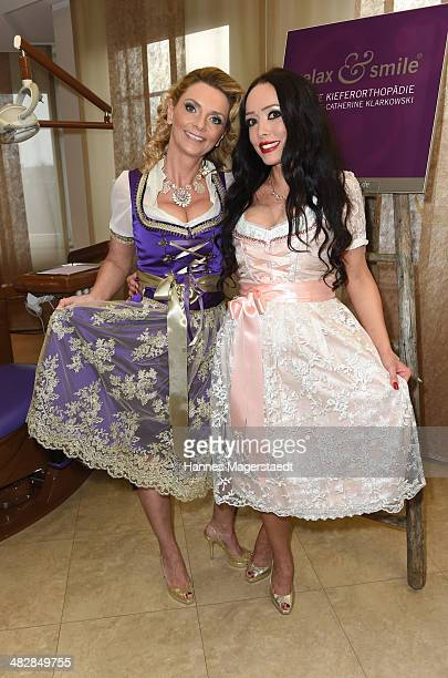 MarieCatherine Klarkowski and Karin Braun attend the 'Relax and Smile' Anniversary Celebration on April 4 2014 in Munich Germany