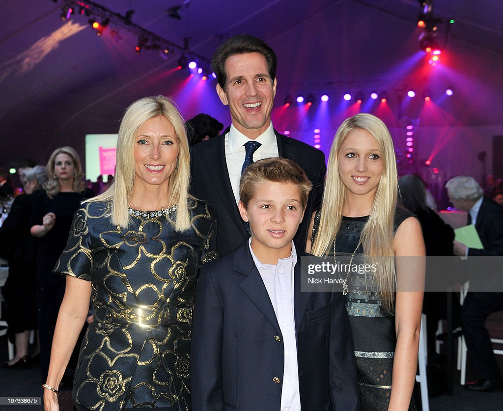 Marie-Chantal, Crown Princess of Greece; Pavlos, Crown Prince of Greece, Marie-Chantal and Maria Olympia attend annual fundraiser in aid of Gabrielle's Angel Foundation for Cancer Research at Battersea Power station on May 2, 2013 in London, England.