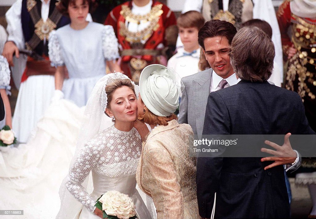 Marie Chantal Miller And Prince Pavlos Of Greece On Their Wedding Day At St Sophia S