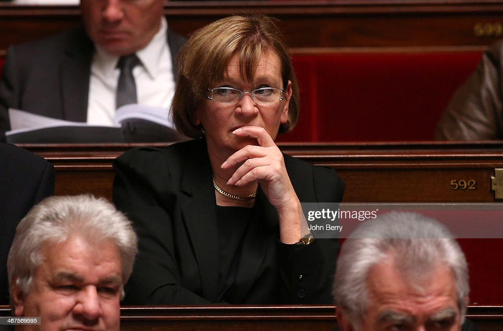 MP Marie-Georges Buffet of PC participates at the Questions to the Government at the french National Assembly on February 4, 2014 in Paris, France.