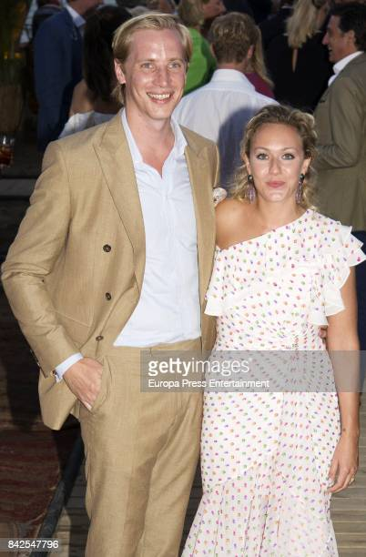 MarieGrabielle of Nassau and Antonius Willms from The Grand Ducal Family of Luxembourg are seen having dinner the day before the wedding of...